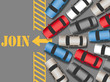 Cars traffic jam to join web site