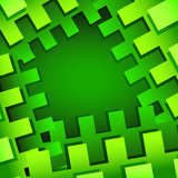 Green rectangular abstract background