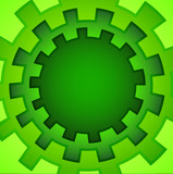Green round abstract background