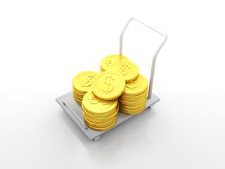 Dollar Coin Cart