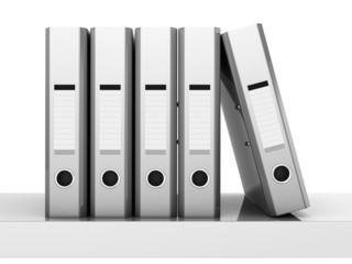 silvery lever arch folder