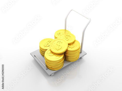 Dollar Coin Cart