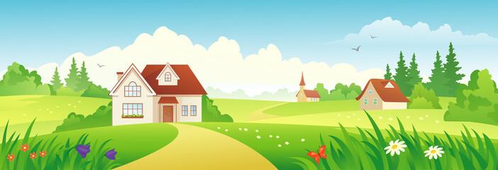 Summer village banner