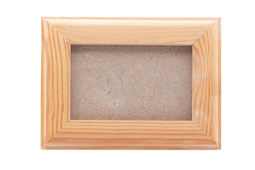 Wooden frames on wood background with clipping path.