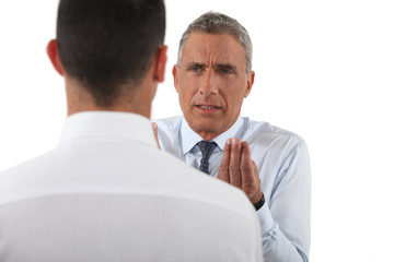Boss dissatisfied with employee