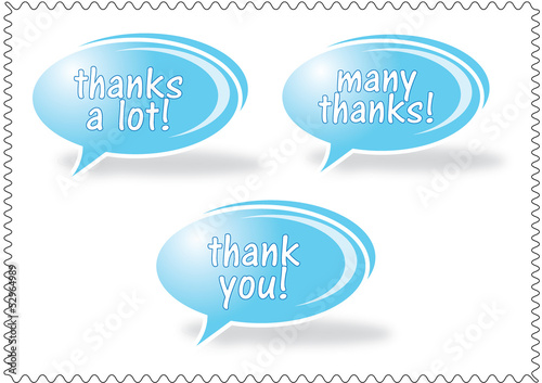 Thank you - grateful bubbles. Vector.