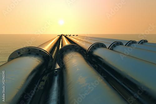 Leinwandbild Motiv Pipeline sunset.