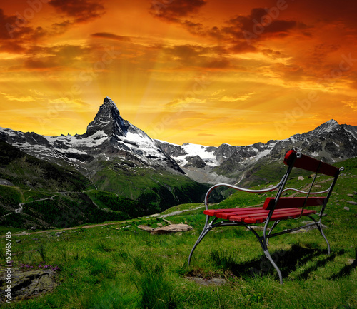 Matterhorn in the sunset - Swiss Alps