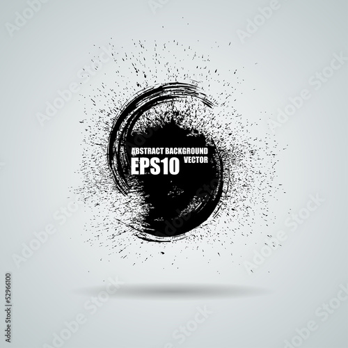Abstract vector black grunge background. Vector banner