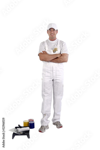 painter with arms crossed