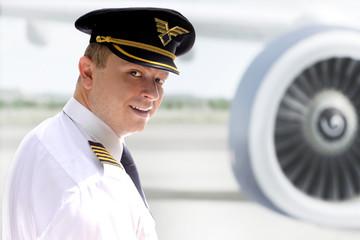 Cheerful pilot