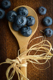 Blueberries on a Spoon Close Up