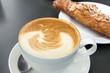 Cup of Caffe Latte Closeup