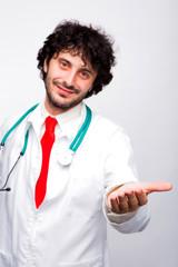doctor givind hand