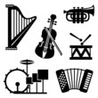 musical tools icons