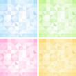 Set of Abstract Triangle Backgrounds