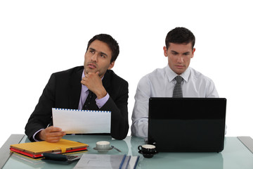 male colleagues working side by side