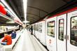 canvas print picture - station Glories in Metro de Barcelona