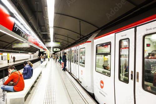 canvas print picture station Glories in Metro de Barcelona