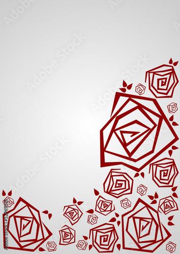 czerwone róże na szarym tle