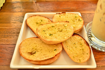 Garlic and herb bread.
