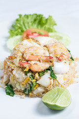 fried rice with seafood