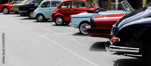 Foto op Canvas Vintage cars vintage car show
