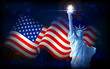 Statue of Liberty with American Flag - 52970744
