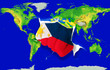 Fist in color  national flag of philippines    punching world ma