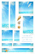 Sea backgrounds, animals and decorative dividers - web banners