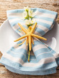 Rustic summer table setting