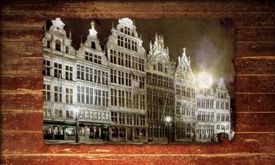 Holzplakat - Antwerpen