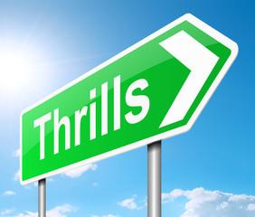 Thrills sign.