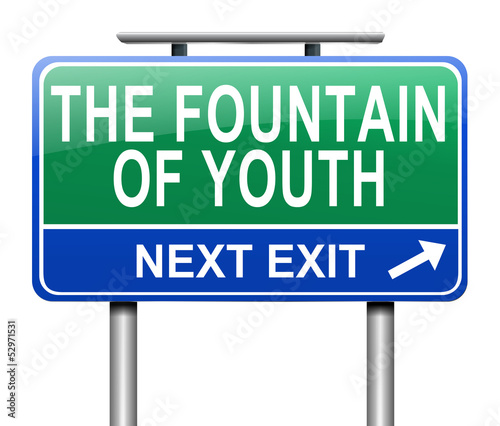 Fountain of youth concept.