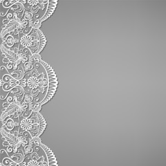 lace and floral ornaments
