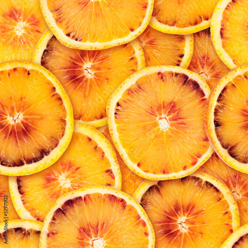 Sliced orange seamless background
