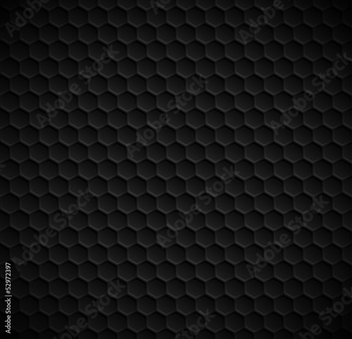 Vector hexagons seamless black background