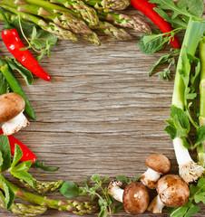 Vegetable frame.