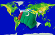Fist in color  national flag of turkmenistan    punching world m