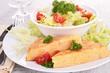tortilla with potato and tomato