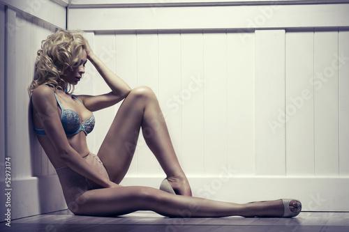 Beauty alluring young woman in sexy lingerie © Aarrttuurr