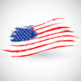 Grungy American Flag Background - 52973303