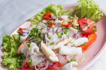 Yum Woon Sen, Thai seafood spicy salad