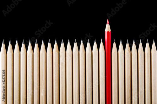 Outstanding red pencil