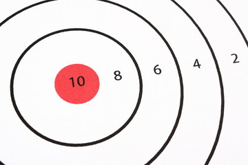 Shooting Target with Red Bullseye