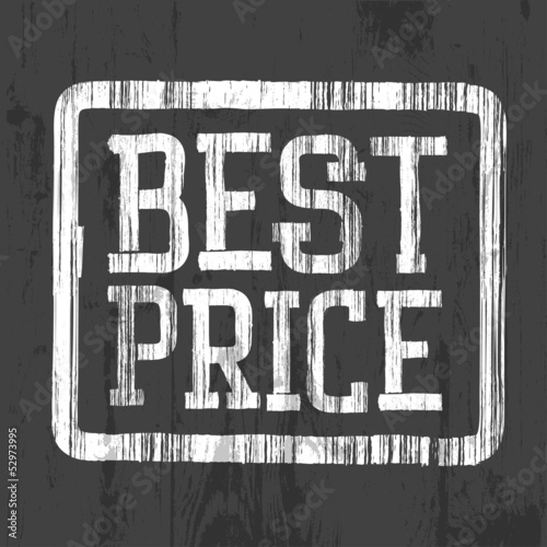 Best price stamp, vector