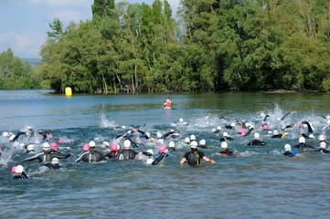 France, a triathlon in Verneuil sur Seine