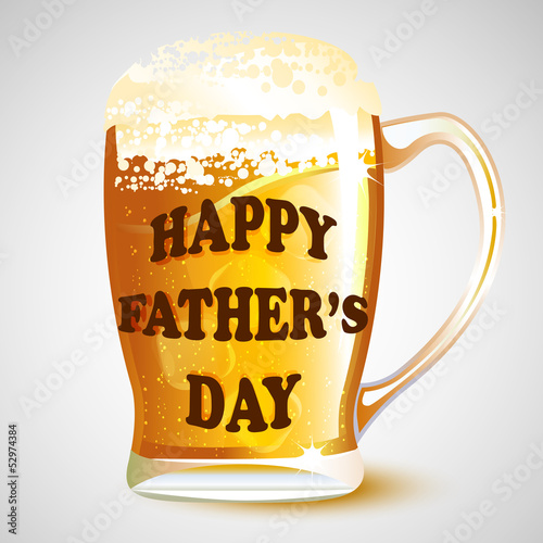 Happy Father's Day message on Beer Mug