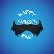 Mosutache in Happy Father's Day background