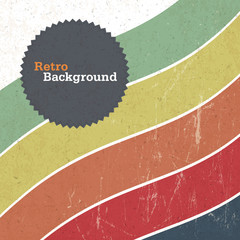 Retro background with colorful lines, vector
